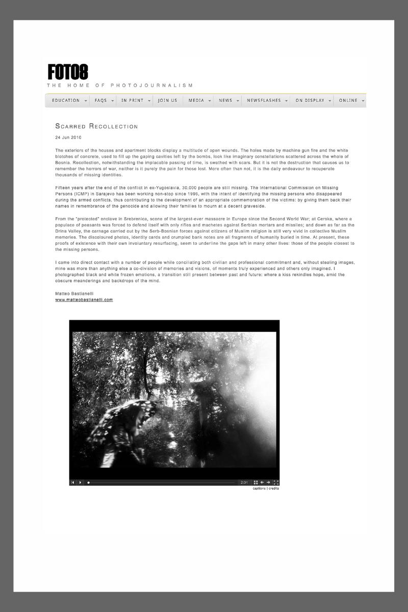 "July 2010 - ""The Bosnian Identity"" featured on Foto8"