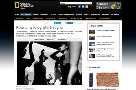 """November 2010 - """"The Bosnian Identity"""" featured on National Geographic Italia"""