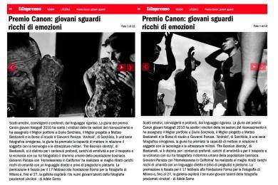 "January 2011 - ""The Bosnian Identity"" featured on L'Espresso magazine"