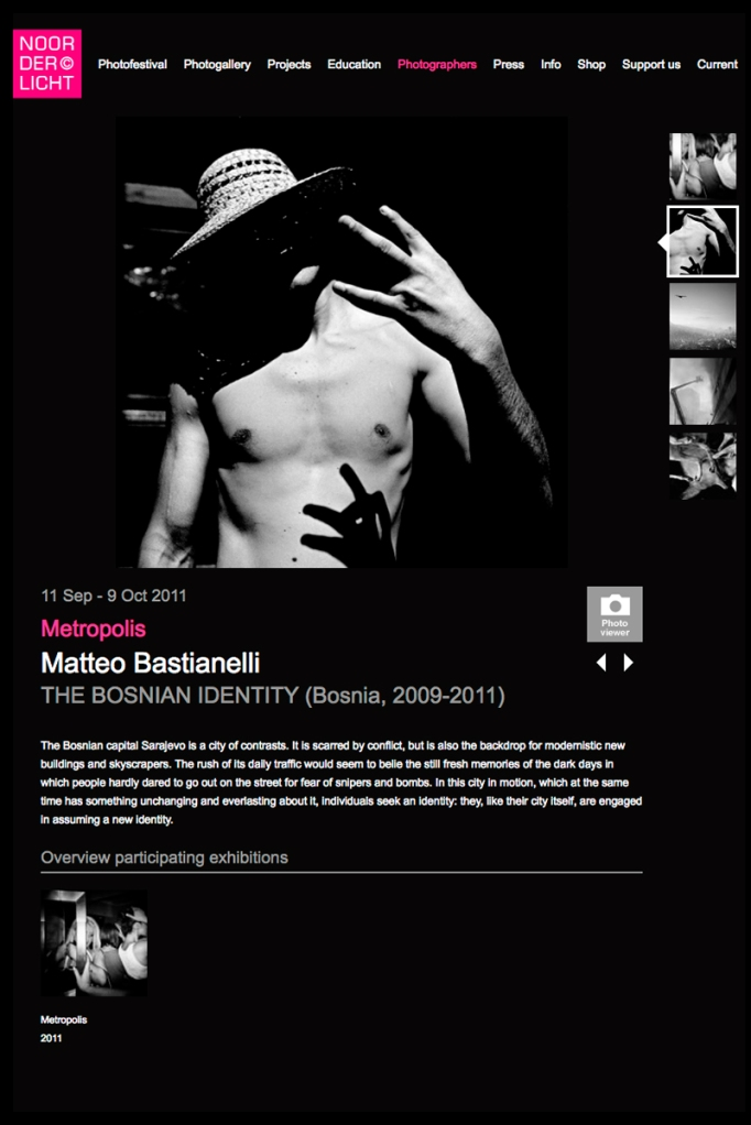 """September 2011 - """"The Bosnian Identity"""" published in Noorderlicht photofestival book"""