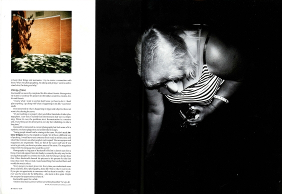 """December 2011 - """"Back and forth"""" published in Photo Raw magazine"""