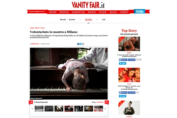 """January 2012 - """"A silent scream for life"""" featured on Vanity fair"""