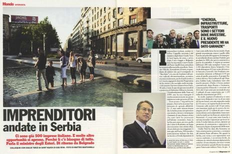 "November 2012 - ""The Serb Heritage"" published in L'Espresso magazine"