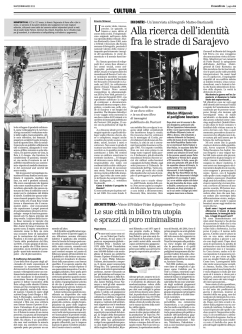 """March 2013 - """"The Bosnian Identity"""" Project reviewed by Ernesto Milanesi on """"Il Manifesto"""""""