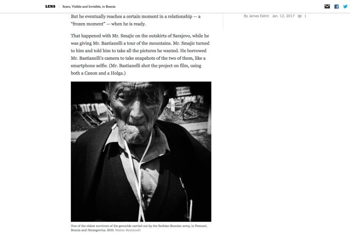 """January 2014 - """"The Bosnian Identity"""" published in """"Lens""""-The New York Times's photography blog"""