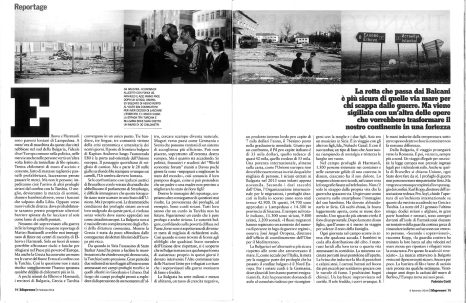 """February 2014 - The first chapter of my long term project """"Souls of Syrians"""" published in L'Espresso magazine"""