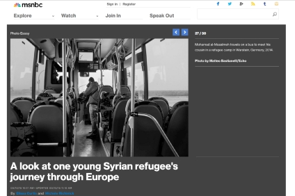 """March 2015 - """"Souls of Syrians"""" published in MSNBC photography"""