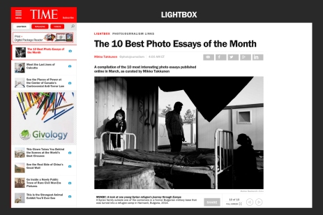 """April 2015 - """"Souls of Syrians"""" featured on TIME Lightbox among the 10 best photo essay of the month"""