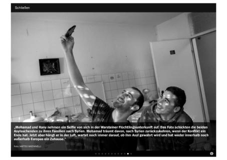 """July 2015- """"Souls of Syrians"""" published in Der Spiegel"""
