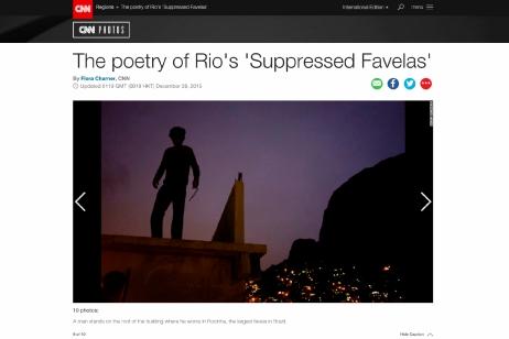 "December 2015- ""Suppressed favelas"" published in CNN Photos"