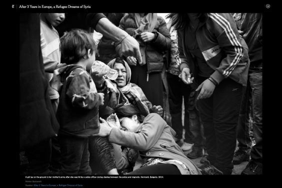 """October 2016- """"Souls of Syrians"""" published in Lens- The New York Times"""