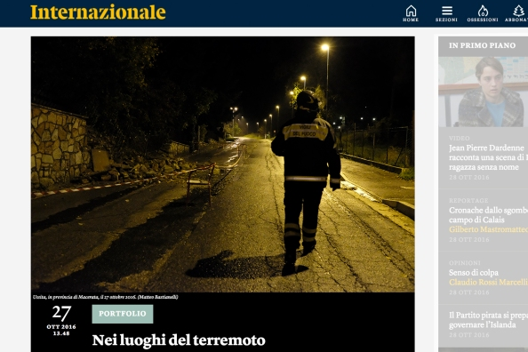 "October 2016- One of my pictures from the series ""The shock after"" featured on Internazionale"