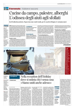 """October 2016- One of my pictures from the series """"The shock after"""" published in """"Il Corriere della Sera"""""""