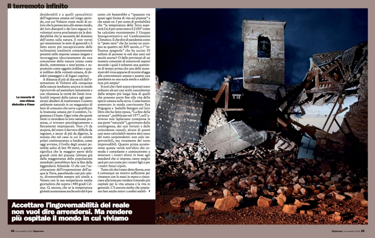 """November 2016- Two of my pictures from the series """"The shock after"""" published in L'Espresso magazine."""