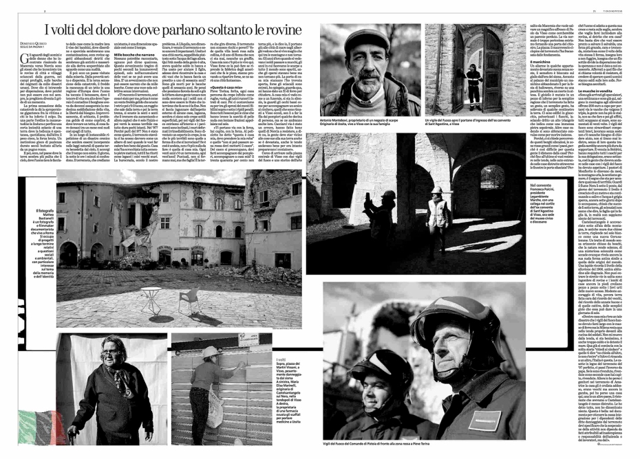 """November 2016- Assignment for """"La Stampa"""", with an article written by Domenico Quirico."""