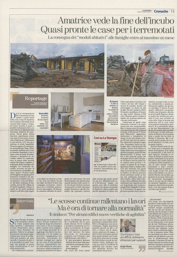 """January 2017- Assignment for """"La Stampa"""" in Amatrice, one of the places hit by the earthquake in central Italy."""