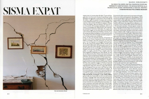 """January 2017- One of my pictures from the series """"The shock after"""" published in D- La Repubblica."""