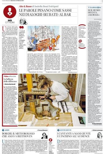 """February 2017- Assignment for """"Il Corriere della Sera""""."""