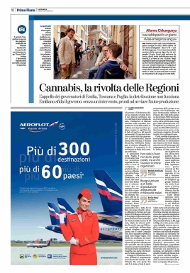 """September 2017- My long-term project """"Green gold"""" published as cover story in the Italian daily newspaper """"La Stampa""""."""