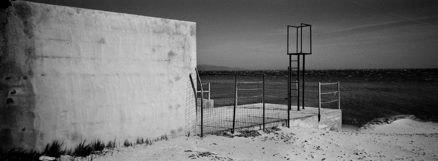 A building on Poetto beach, near the Molentargius-Saline Regional Park. The legitimacy of the building project was verified in the past, in accordance with the rules of concession for public domain. Quartu Sant'Elena, Italy 2015. © Matteo Bastianelli