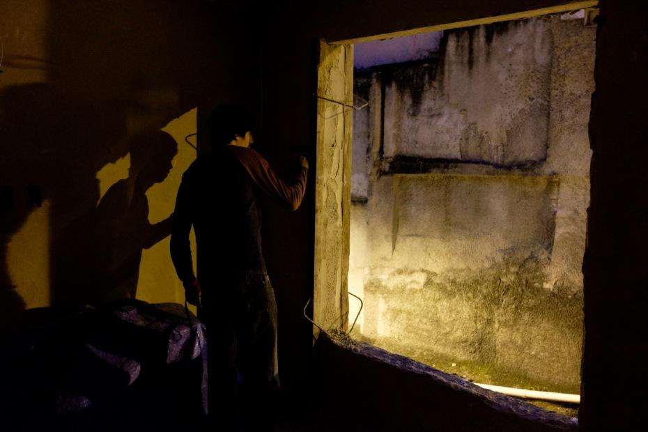 33-year-old Levi Ricardo, in the favela of Rocinha where his photo studio is located. Rio de Janeiro, Brazil 2015. © Matteo Bastianelli