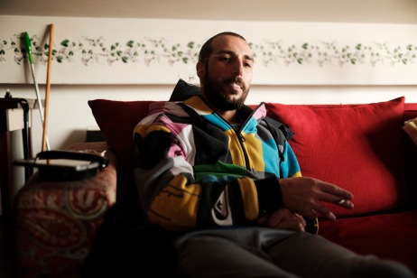 A young man smokes marijuana for recreational purposes on his couch. According to the 2016 annual report of the European Monitoring Centre for Drugs and Drug Addiction, 83 million Europeans have used cannabis at least once in their life. Italy 2016. © Matteo Bastianelli