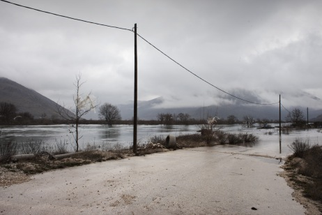 Roads and crops completely flooded. Ravno, Bosnia and Herzegovina 2010. © Matteo Bastianelli