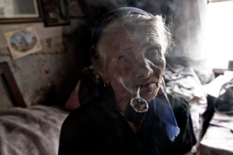 An elderly lady, who survived extermination by Ustascia in her home. Podturen (Međimurje), Croatia 2009. © Matteo Bastianelli