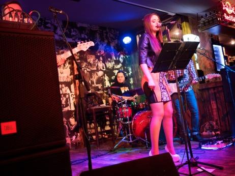 A band during a performance inside a Russian pub in the city-center. Chisinau, Moldova 2014. © Matteo Bastianelli