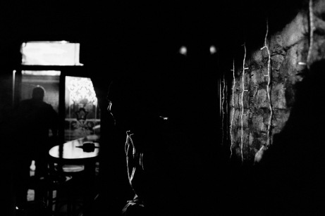 Nihad in a bar in the centre. Sarajevo, Bosnia and Herzegovina, 2011. © Matteo Bastianelli