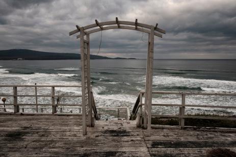 A view of the Black Sea coast, in the town of Primorsko, Bulgaria 2017. © Matteo Bastianelli
